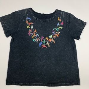 Vintage 90s Retro Aztec Western Short Sleeve Shirt